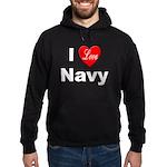 I Love Navy Hoodie (dark)