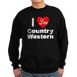 I Love Country Western Sweatshirt (dark)