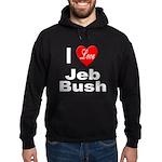 I Love Jeb Bush Hoodie (dark)