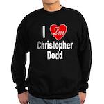 I Love Christopher Dodd Sweatshirt (dark)