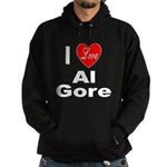 I Love Al Gore Hoodie (dark)