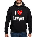 I Love Lawyers Hoodie (dark)
