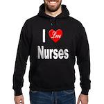 I Love Nurses Hoodie (dark)