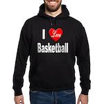 I Love Basketball Hoodie (dark)