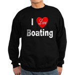 I Love Boating Sweatshirt (dark)