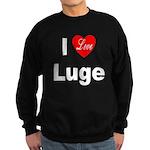 I Love Luge Sweatshirt (dark)