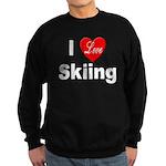 I Love Skiing Sweatshirt (dark)