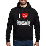 I Love Snowboarding Hoodie (dark)