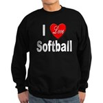 I Love Softball Sweatshirt (dark)