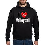 I Love Volleyball Hoodie (dark)