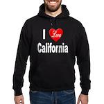 I Love California Hoodie (dark)
