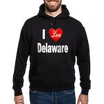 I Love Delaware Hoodie (dark)