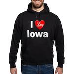 I Love Iowa Hoodie (dark)