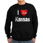 I Love Kansas Sweatshirt (dark)