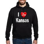I Love Kansas Hoodie (dark)