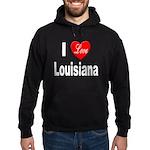 I Love Louisiana Hoodie (dark)
