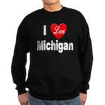 I Love Michigan Sweatshirt (dark)