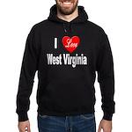 I Love West Virginia Hoodie (dark)