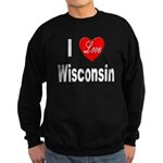 I Love Wisconsin Sweatshirt (dark)