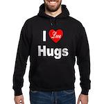 I Love Hugs Hoodie (dark)