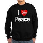 I Love Peace Sweatshirt (dark)