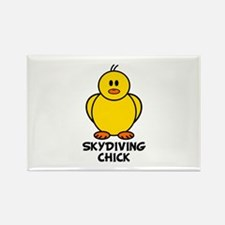 Skydiving Chick Rectangle Magnet