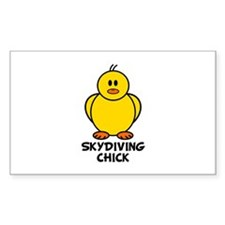 Skydiving Chick Rectangle Decal