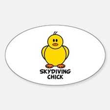 Skydiving Chick Oval Decal