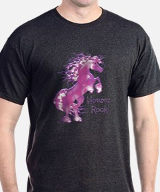 Horses Rock Purple Gummy- T-Shirt