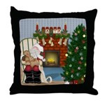 Sleeping Santa Throw Pillow