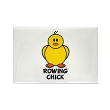 Rowing Chick Rectangle Magnet