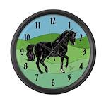 Black Horse Large Wall Clock