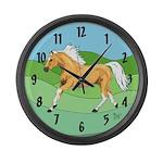 Palomino Horse Large Wall Clock