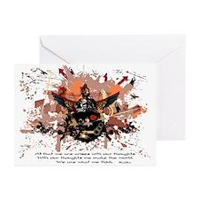 Buddha Buddhist Grunge Greeting Cards (Pk of 20)