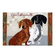 Quilted Dachshunds Postcards (Package of 8)