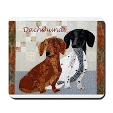 Quilted Dachshunds Mousepad