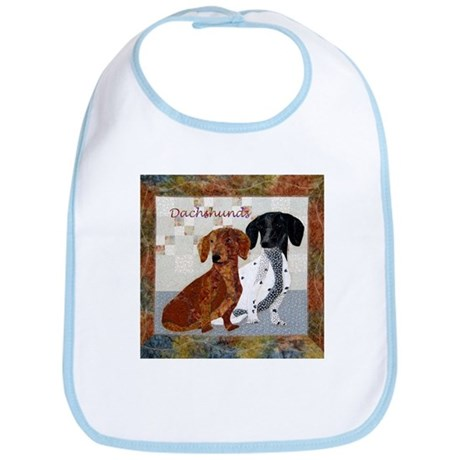 Quilted Dachshunds Bib