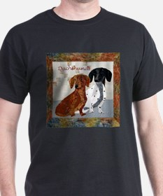 Quilted Dachshunds T-Shirt
