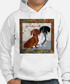 Quilted Dachshunds Hoodie
