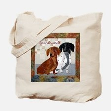 Quilted Dachshunds Tote Bag