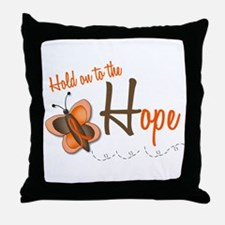Hold On To Hope 1 Butterfly 2 ORANGE Throw Pillow
