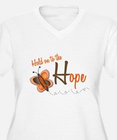 Hold On To Hope 1 Butterfly 2 ORANGE T-Shirt