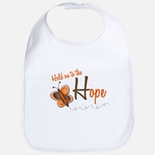 Hold On To Hope 1 Butterfly 2 ORANGE Bib