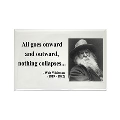 Walt Whitman 20 Rectangle Magnet (100 pack)