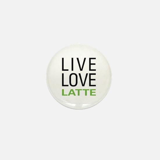 Live Love Latte Mini Button