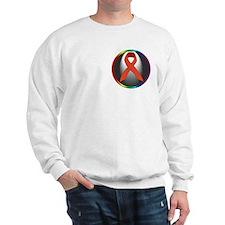 HIV AIDS Awareness Ribbon Sweatshirt