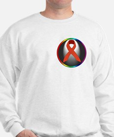 HIV AIDS Awareness Ribbon Sweatshirt