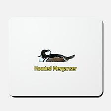 Hooded Merganser (titled) Mousepad