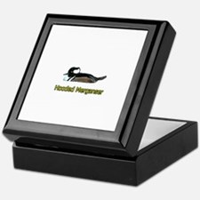 Hooded Merganser (titled) Keepsake Box