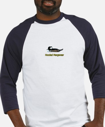Hooded Merganser (titled) Baseball Jersey